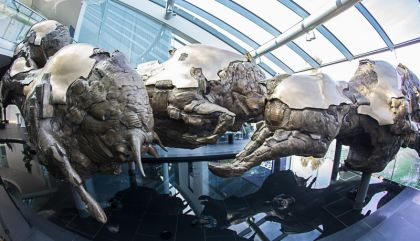 Fulminante Plastiken sind das Markenzeichen von Jos Pirkner. In jahrelanger Arbeit hat er die Red Bull-Zentrale mit Europas größter Bronzeskulptur geplant und geschaffen.