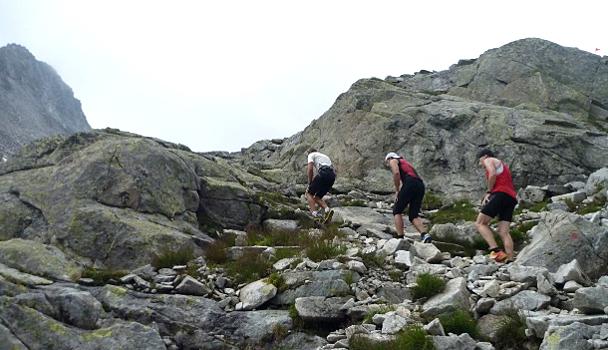 Die zweite Hälfte des Bewerbes führte steil über Stock und Stein und war für die BergläuferInnen ziemlich schweißtreibend.