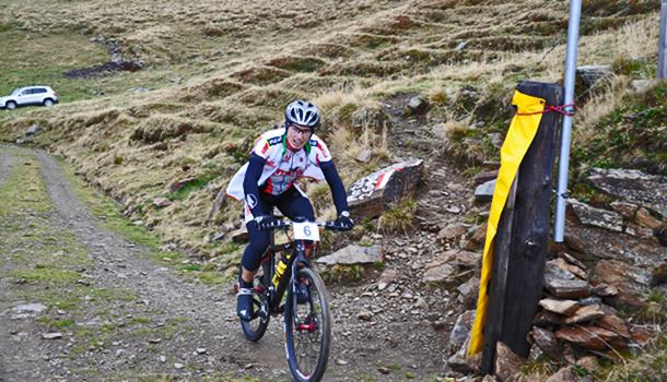 Der schnellste Mountainbiker Andreas Fuchs im Ziel