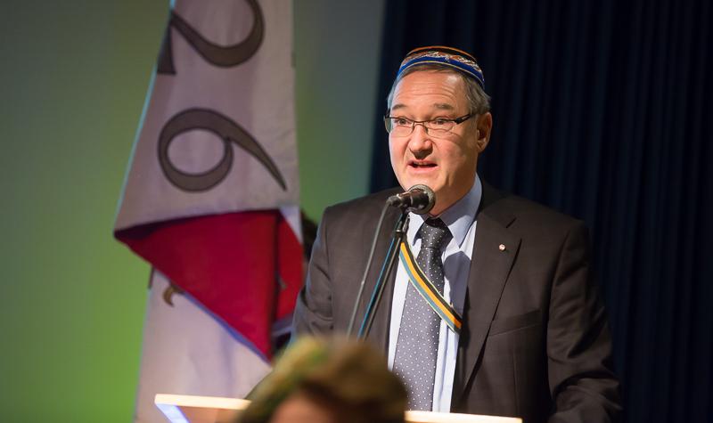 """Philistersenior Dr. Gerhard Seirer, v. Dr. cer. Laetus, maßgeblich an der Organisation des 50-Jahr-Jubiläums beteiligt, hat die Leitung der """"Görz zu Lienz"""" im Jahr 2008 übernommen. Er setzte sich mit viel Engagement für den Wiederaufbau der Aktivitas ein."""