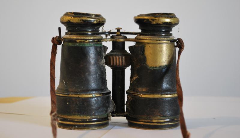 Auch dieser Feldstecher, der im Krieg verwendet wurde, wird in der Ausstellung zu sehen sein.