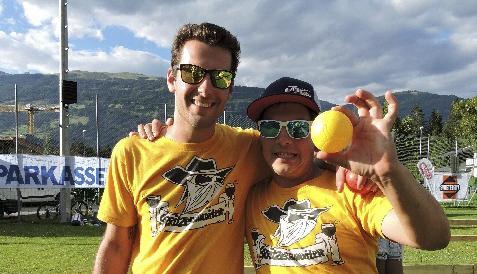 Christof Gritzer und Patrick Kircher setzten sich als beste Boccia-Spieler des Turniers durch.