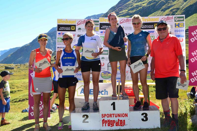 Verena Streitberger siegte bei den Damen vor der Matreierin Barbara Preßlaber und Ina Forchthammer
