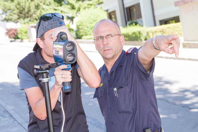 Die Polizeiinspektion stieß bei der Präsentation von Radar, Alkomat & Co auf großes Interesse.
