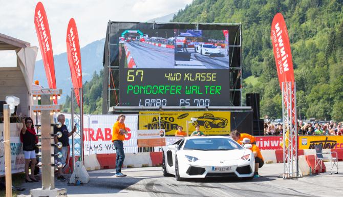 Schnellster Osttiroler der diesjährigen Viertelmeile war Walter Pondorfer mit einem Lamborghini (700 PS), einer Zeit von 11,068 Sekunden und einem Topspeed von 207,4 km/h.