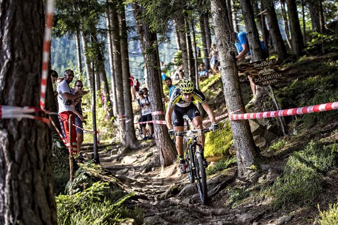 Mountainbiker Alban Lakata konnte 26 Sekunden Vorsprung herausholen.