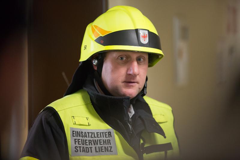 HBI Richard Stefan, der Kommandant der Feuerwehr Lienz