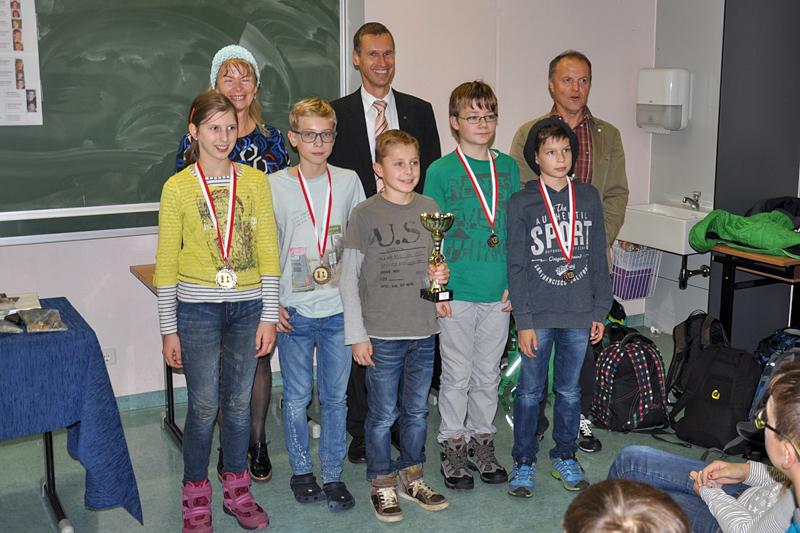 Preisträger U12 v.l.n.r.: Franziska Warmuth, Hubert Zamojski, Marcel Schilcher, Maximilian Stephan, Nicolas Wieser