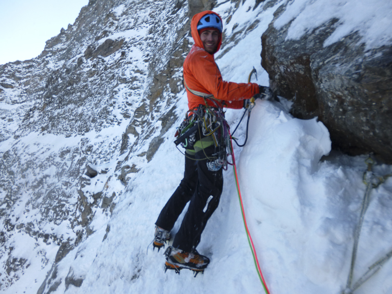 Vittorio Messini auf dem Weg zum Gipfel