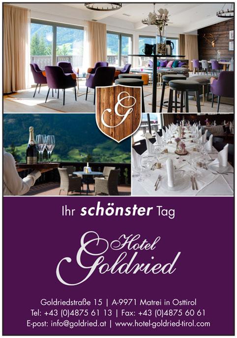Goldried Hotel vom 11.4. bis 28.4.2019