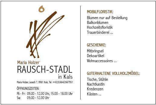 Rausch Stadl vom 18.4. bis 25.4.2019