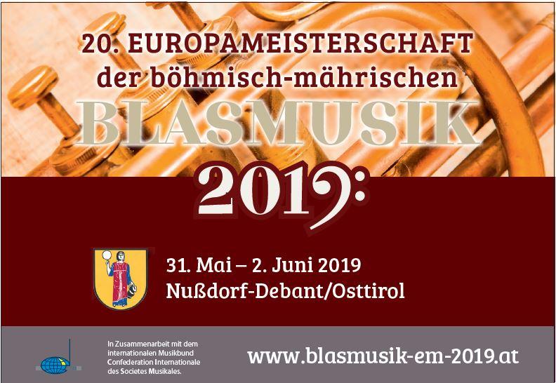 Schattseitner Dorfmusikanten EM Blasmusik vom 18.4. bis 2.5.2019