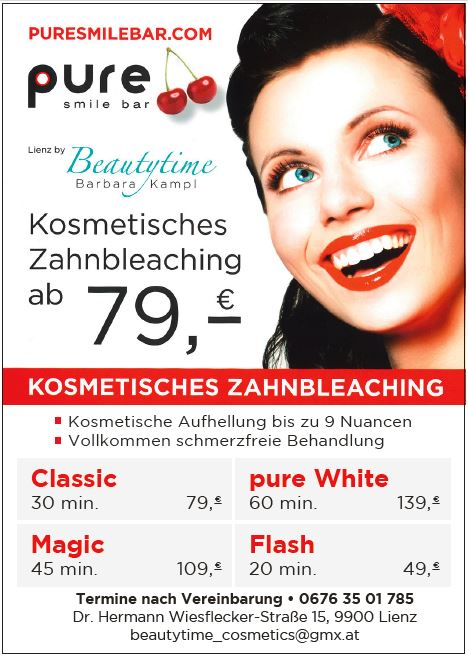pure smile bar Barbara Kampl vom 24.6. bis 3.7.2019