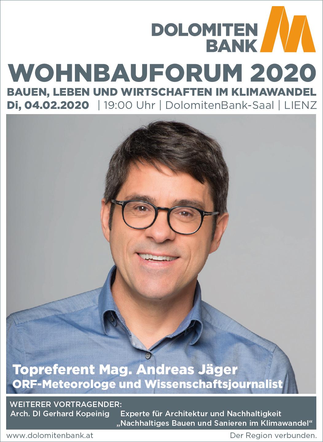 Dolomitenbank Wohnbauforum vom 28.1. bis 4.2.2020