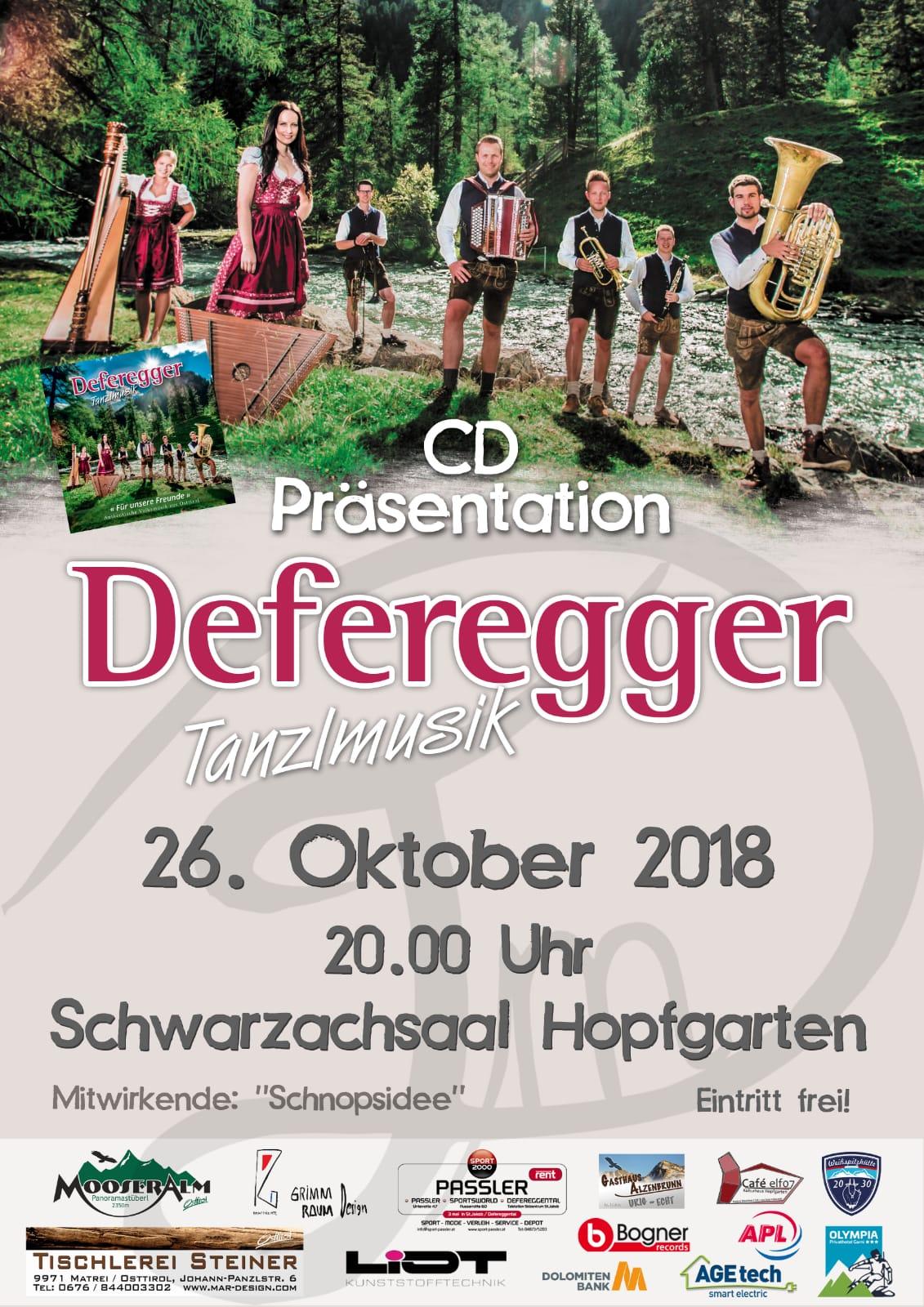 Defregger Tanzlmusik CD-Präsentation