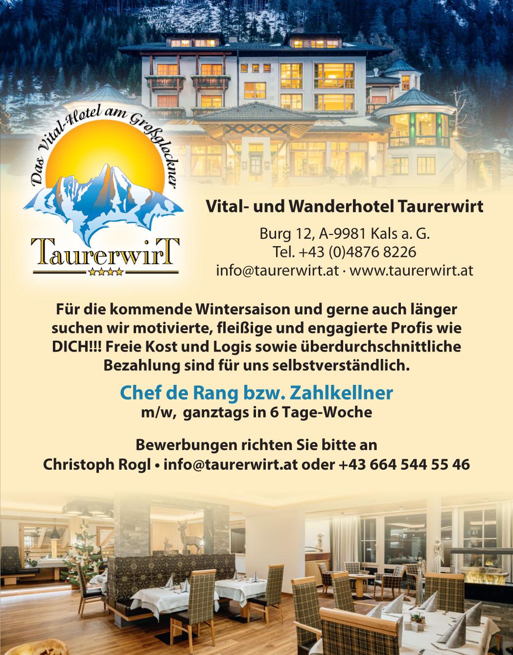 Taurerwirt Kals vom 2.11. bis 15.11.2018